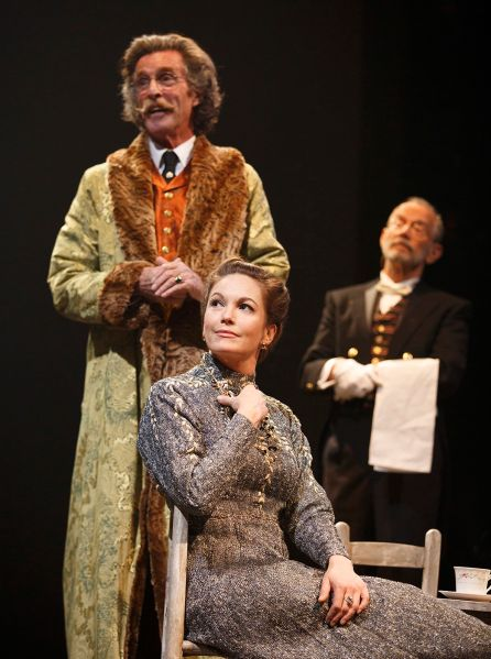 John Glover, Diane Lane and Joel Grey in The Cherry Orchard.