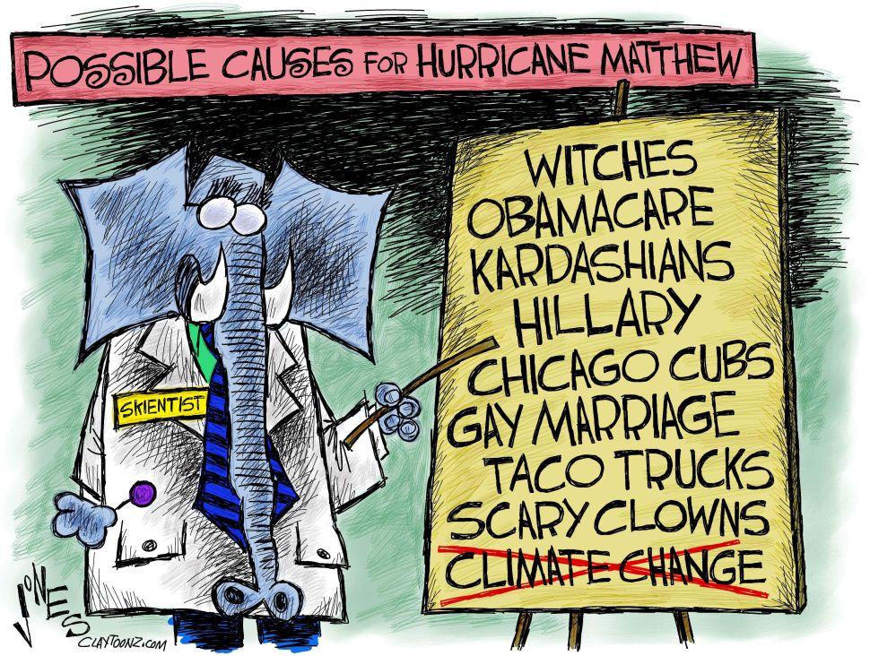 Blame for a Hurricane.