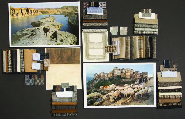 A mood board for the fall/winter 2016 collection.