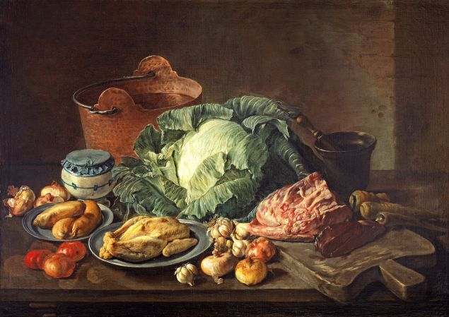 A still life by Baroque painter Giacomo Ceruti, offered by London-based dealers Colnaghi at TEFAF New York.