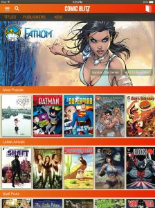 The Comic Blitz app.