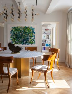 An autumn-ready dining room in the West Village.