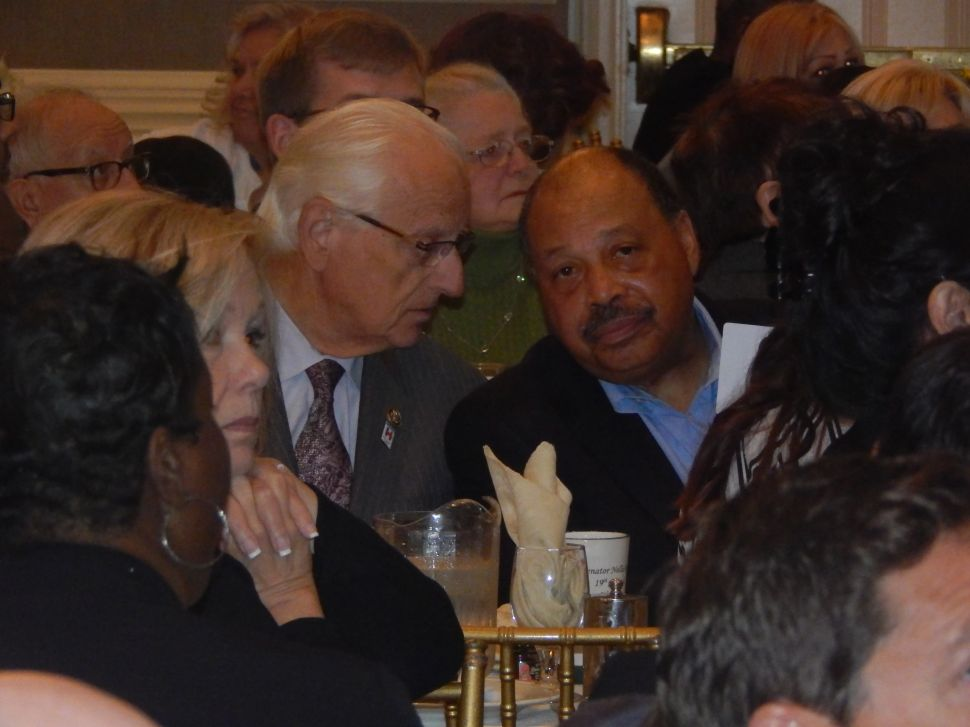 Pascrell, left, and Currie and Senator Nellie Pou's breakfast on Saturday morning at the Brownstone.