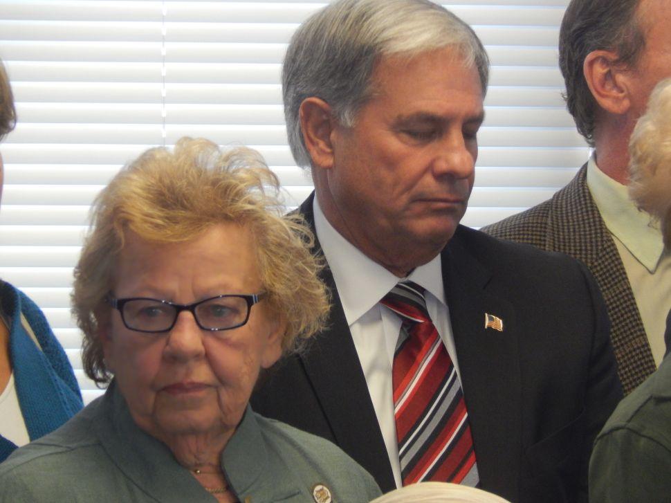 Senate Majority Leader Loretta Weinberg and Bergen County Executive Jim Tedesco.