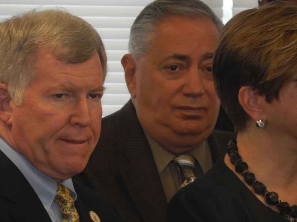 Senators Sacco, right, and Gordon.