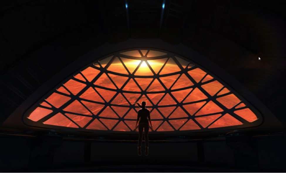 A concept view of Mars from SpaceX's Interplanetary Transport System