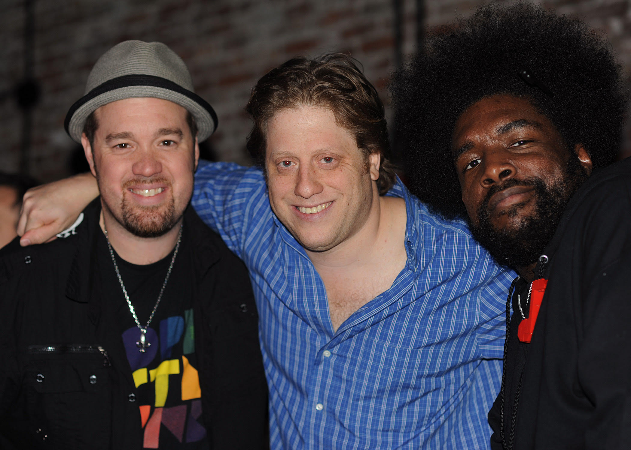 (L-R) Eric Krasno, Peter Shaprio, Questlove (Ahmir Thompson)
