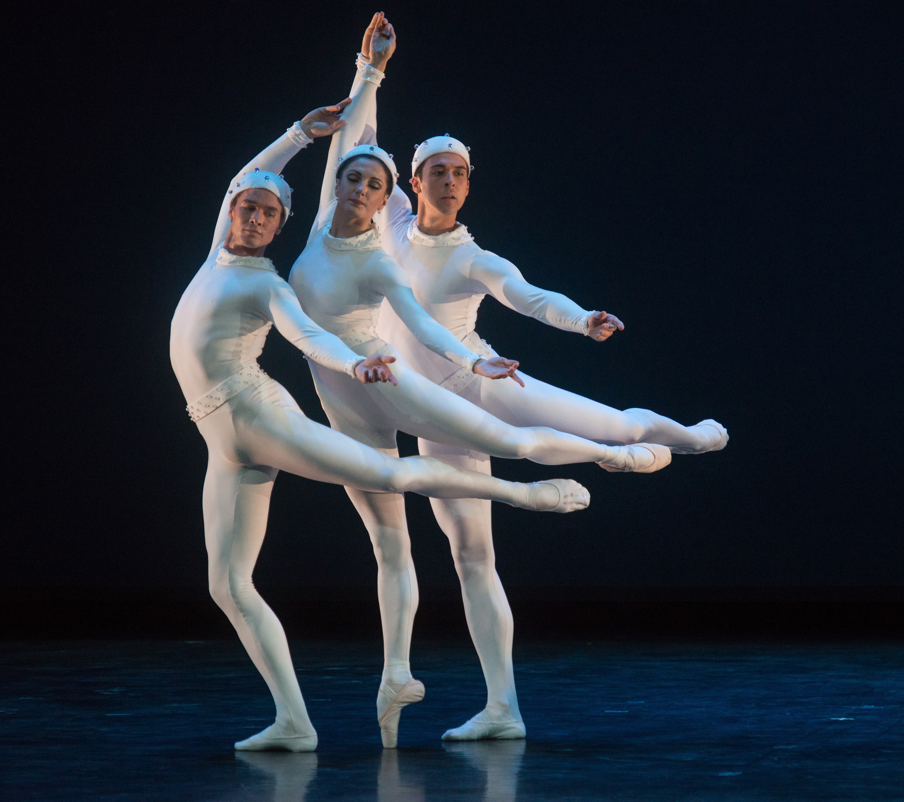 American Ballet Theatre, Monotones II, Frederick Ashton with Veronica Part, Thomas Forster, and Cory Sterns, perform at Fall for Dance Opening Night at City Center on September 26, 2106. Photo Credit: