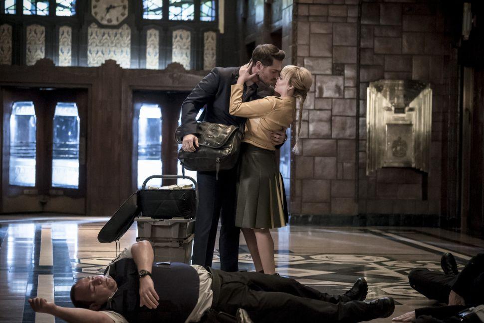 Grey Damon as Sam Scudder and Ashley Rickards as Rosalind Dillion.
