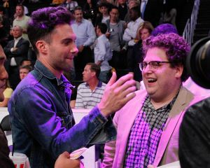 Sadly, it seems Feldstein didn't make this photo ops between pals Jonah Hill and Adam Levine.