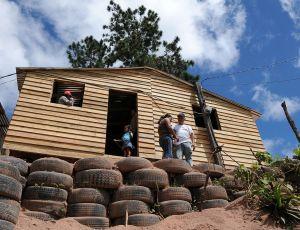 A simple new home in Honduras, built by a Chilean NGO.