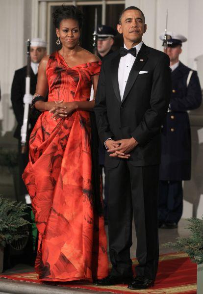 Michelle Obama in Alexander McQueen.