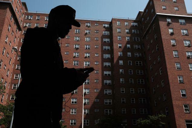 Public housing in East Harlem.