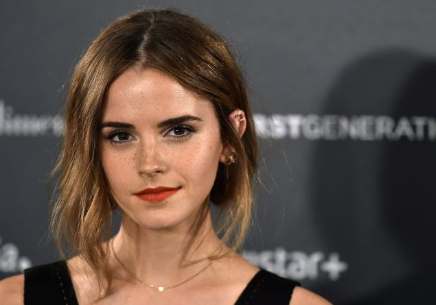 """Actress Emma Watson poses during the photocall of Hispano-Chilean director Alejandro Amenabar's movie """"Regression"""" in Madrid on August 27, 2015."""