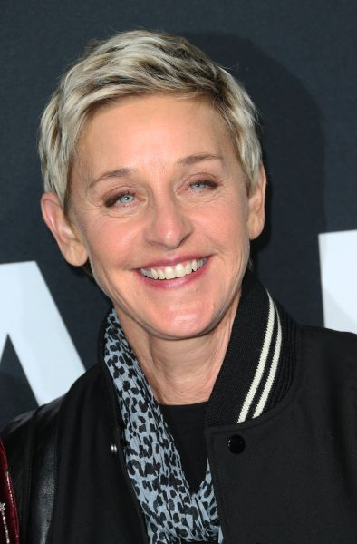 Ellen DeGeneres at the Saint Laurent show at The Hollywood Palladium on February 10, 2016 in Los Angeles, California.