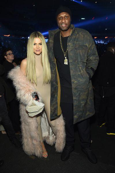 Khloe Kardashian and Lamar Odom attend Kanye West Yeezy Season 3 on February 11, 2016.