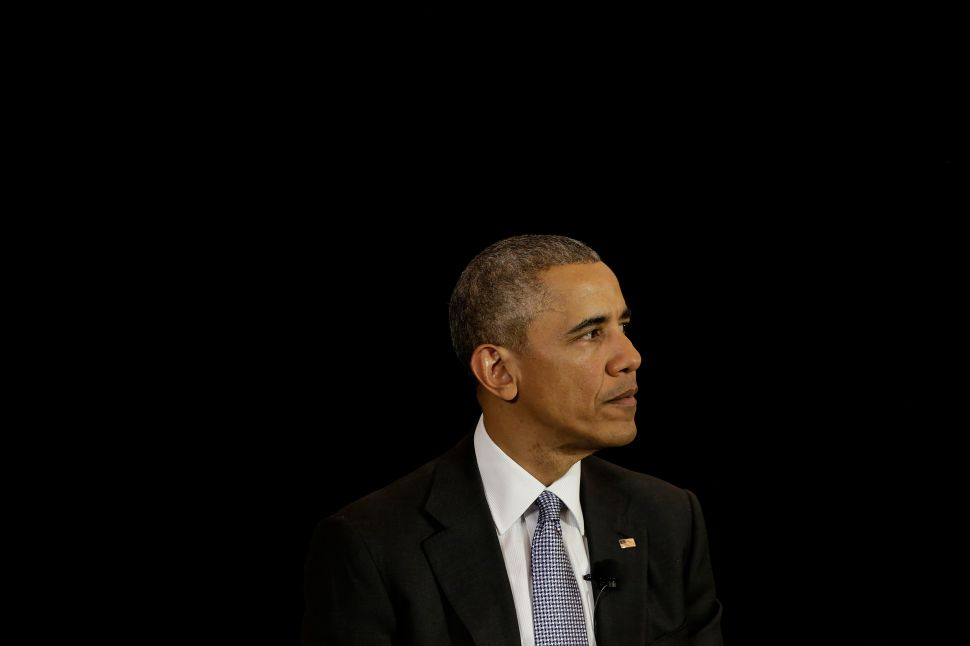 CHICAGO, ILLINOIS - APRIL 07: President Barack Obama speaks at the University of Chicago Law School on April 7, 2016 in Chicago, Illinois. Obama addressed his U.S. Supreme Court nominee Merrick Garland as he hopes members of the Republican party will give Garland a hearing and a vote in Washington.