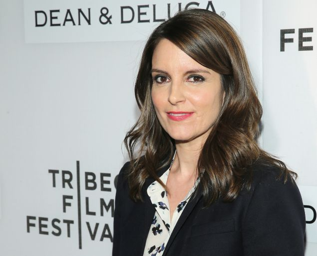 Tina Fey at the Tribeca Talks Storytellers: Tina Fey With Damian Holbrook, at the 2016 Tribeca Film Festival at on April 19, 2016 in New York City.