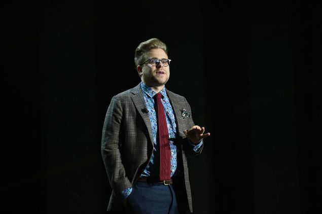 Adam Conover at the Turner Upfront