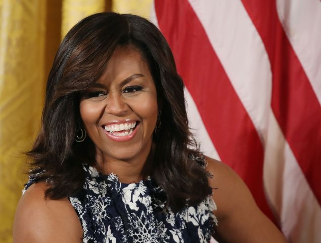 First lady Michelle Obama participates in an event with future college students at the White House, July 19, 2016.