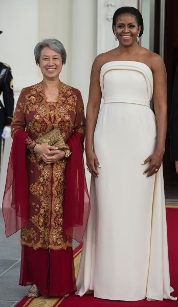 Michelle Obama with and Singapore's Ho Ching.