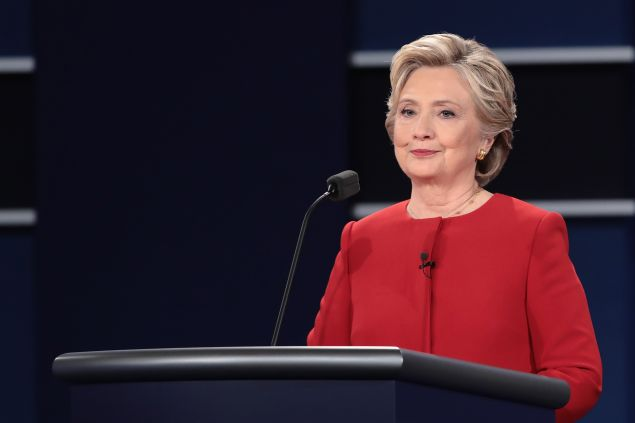 Democratic presidential nominee Hillary Clinton at the Presidential Debate on September 26, 2016.
