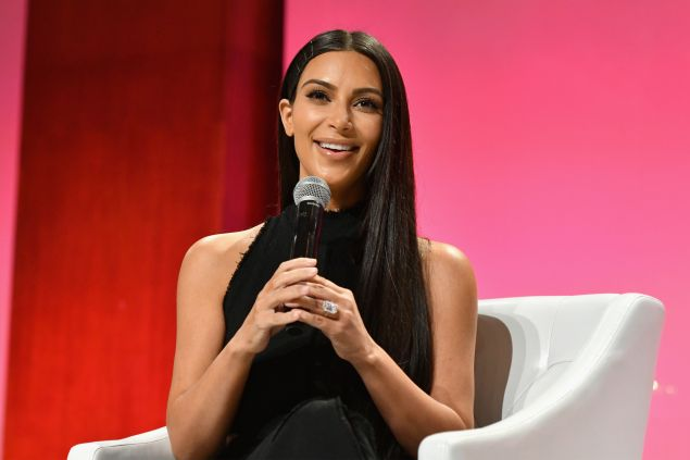 Kim Kardashian and her massive wedding ring.