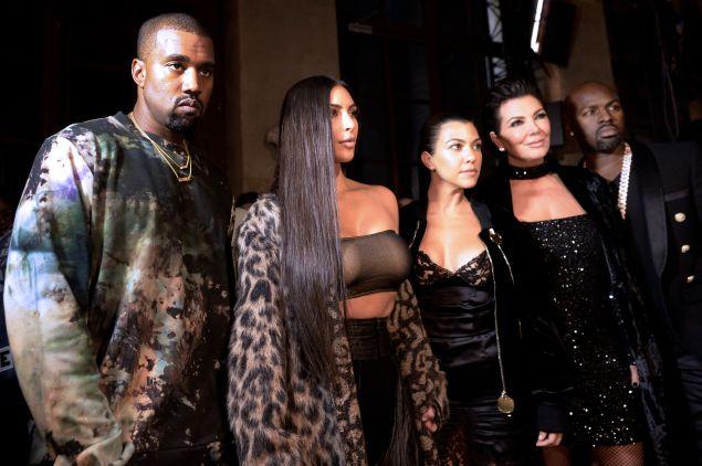 Kanye West, Kim Kardashian, Kourtney Kardashian, Kris Jenner and Corey Gamble.