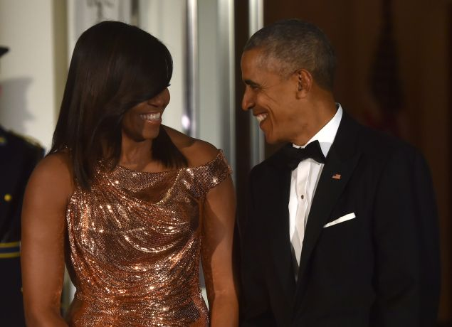 US President Barack Obama and First Lady Michelle Obama.