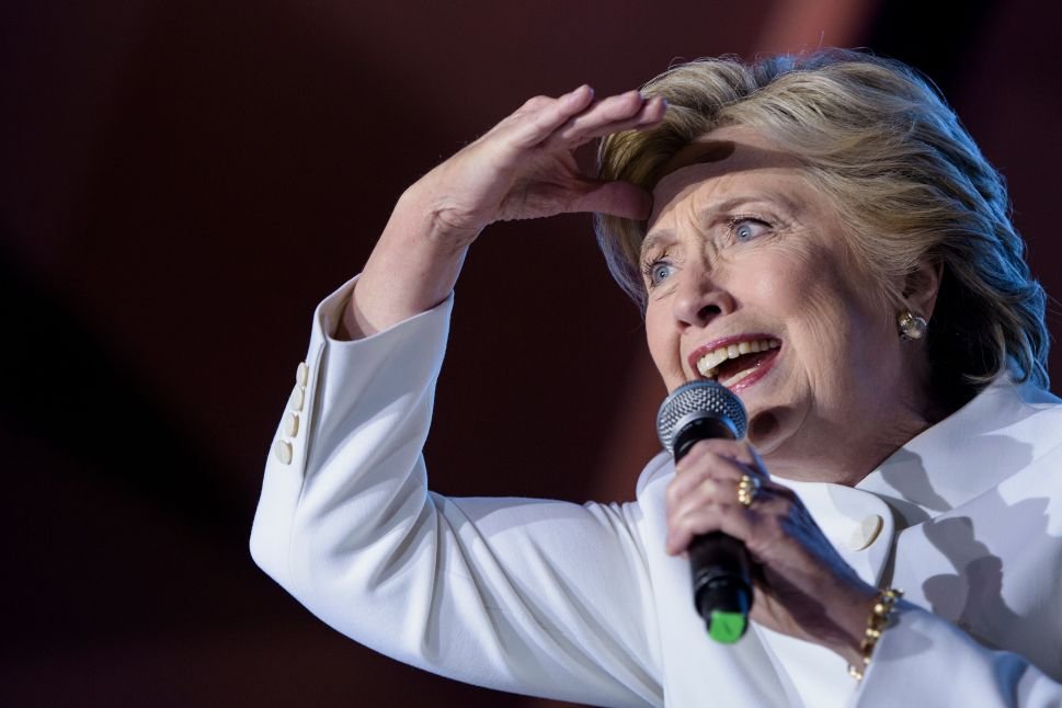 Democratic presidential nominee Hillary Clinton speaks to supporters at Craig Ranch Regional Park Amphitheater after the final presidential debate at the University of Nevada October 19, 2016 in North Las Vegas, Nevada.