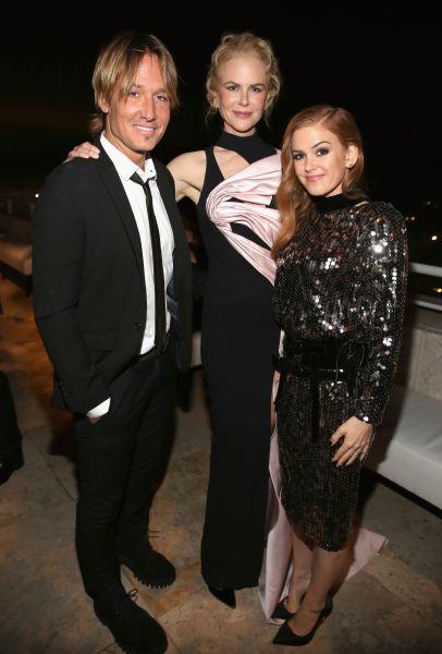 Keith Urban, Nicole Kidman and Isla Fisher.
