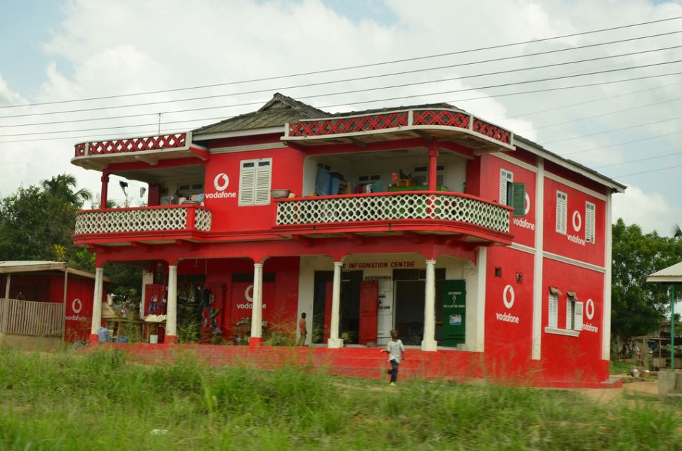 No doubt about who this home outside Accra, Ghana, belongs to.