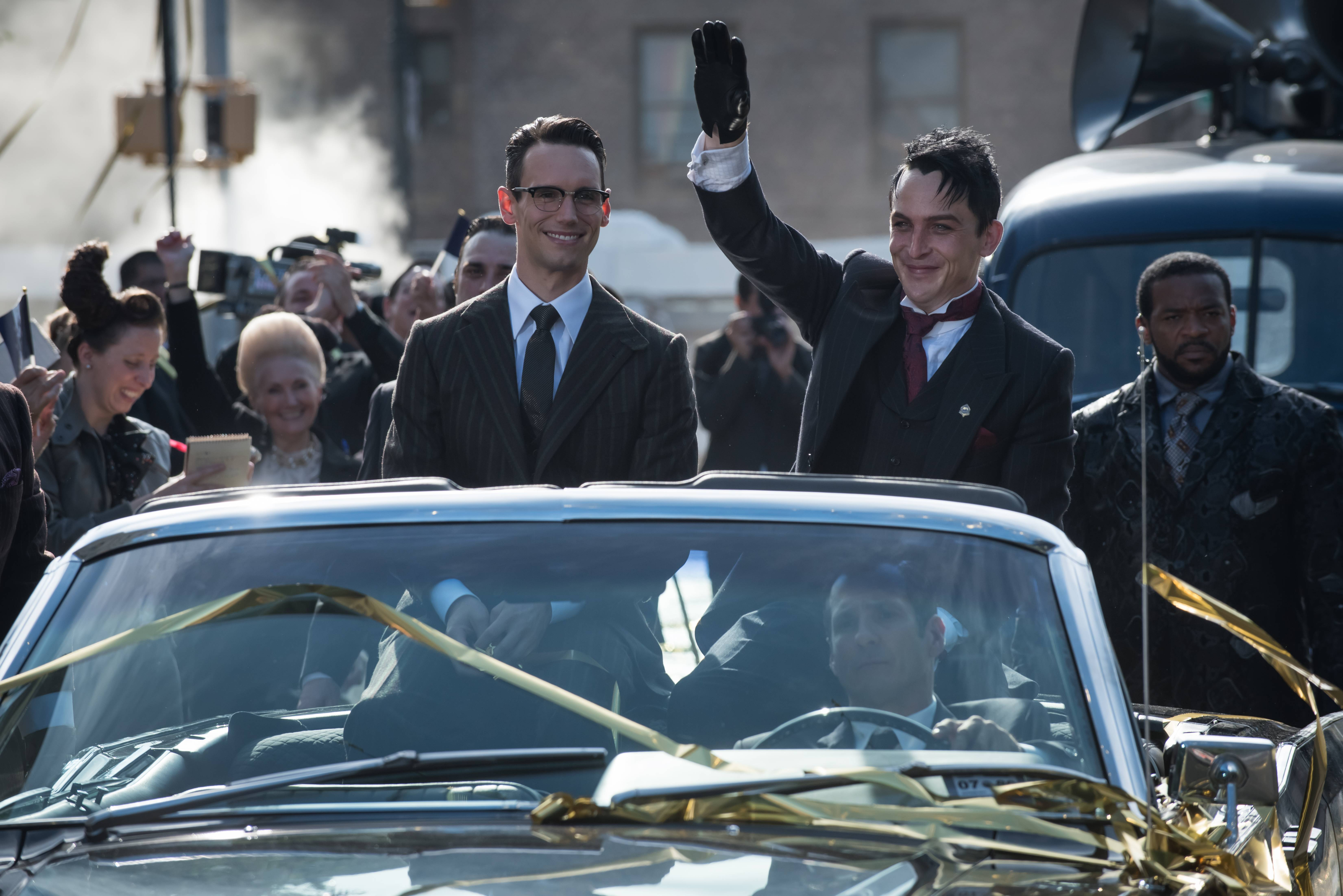 Cory Michael Smith and Robin Lord Taylor.
