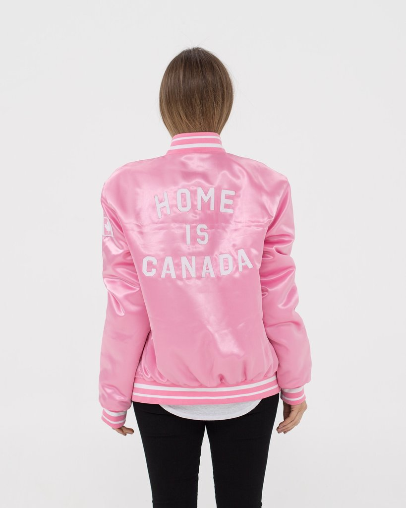 Peace Collective Home is Canada Varsity Bomber Jacket.