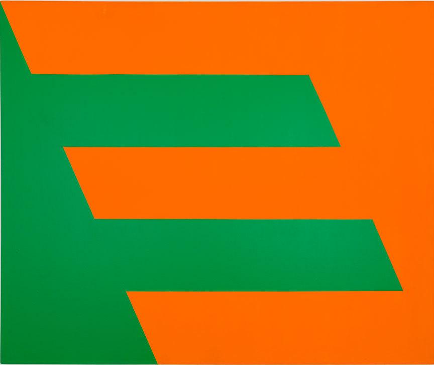Carmen Herrera, Green and Orange, 1958.