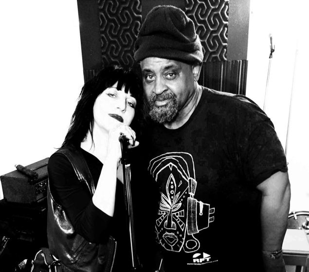 Lydia Lunch and Umar Bin Hassan of the Last Poets.