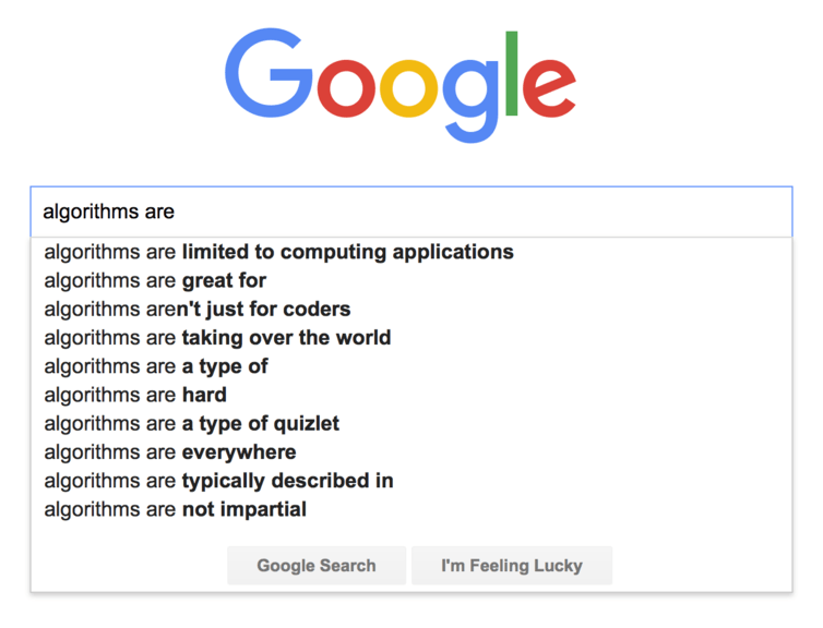 Algorithms are...