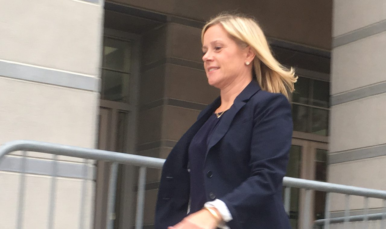 Bridget Kelly exits the Newark Federal Courthouse.