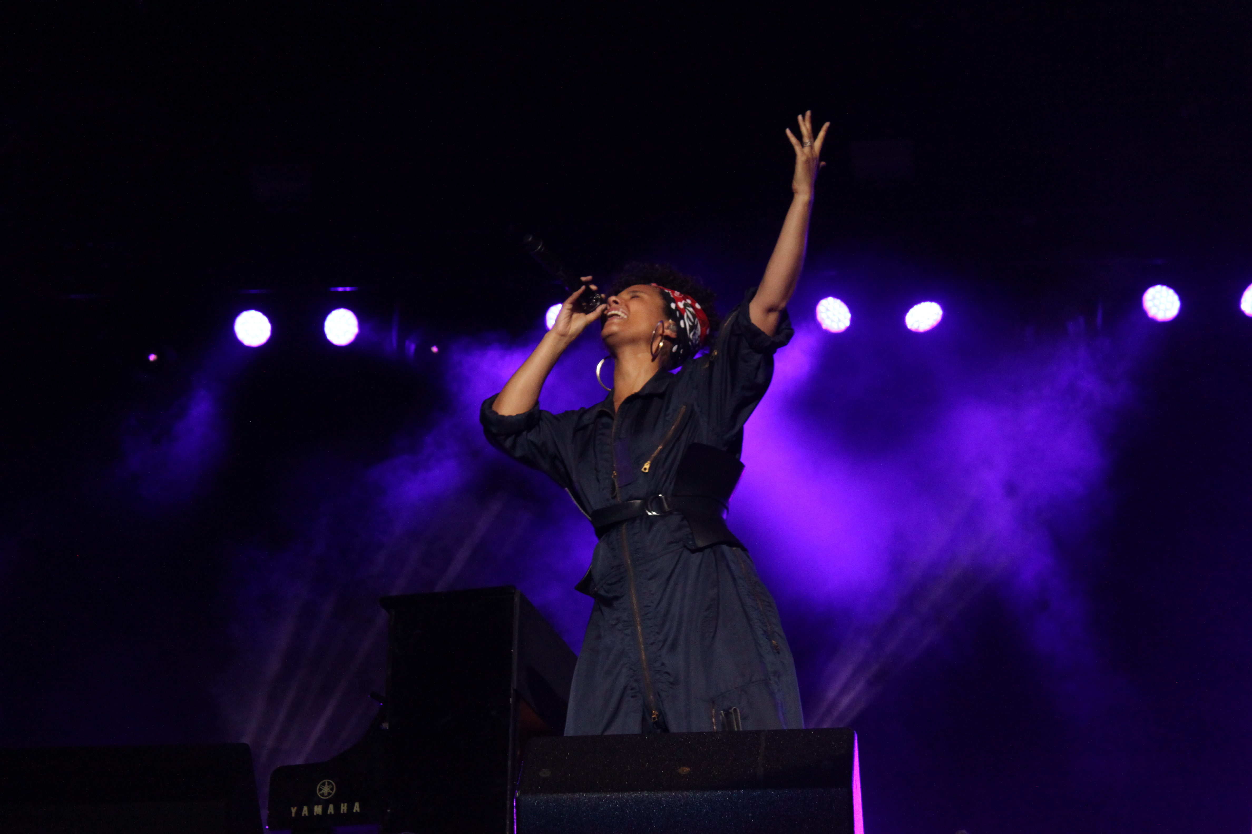 Alicia Keys was a surprise guest at the inaugural Roots Picnic NYC