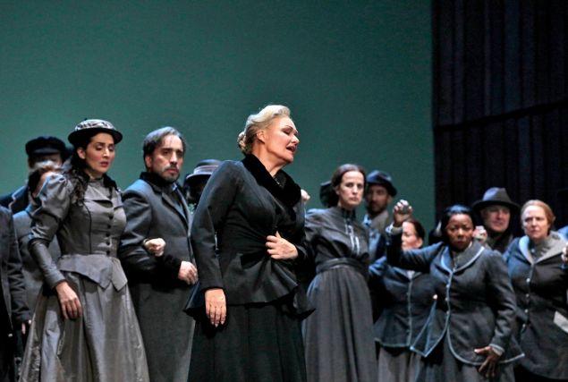 "Karita Mattila as Kostelnicka in 'Jenufa"" at the Met."