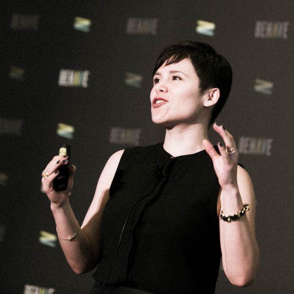 Jimena Almendares speaks at the BEHAVE 2016 behavioral marketing conference.