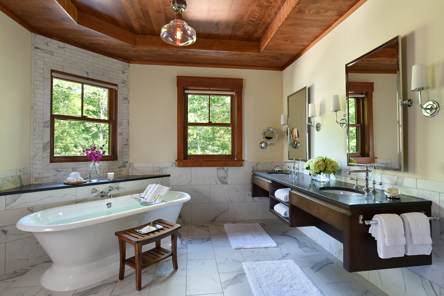 The luxurious bathrooms.