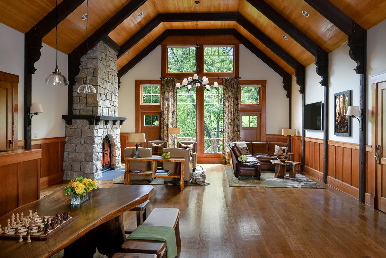 Inside Grove Lodge.