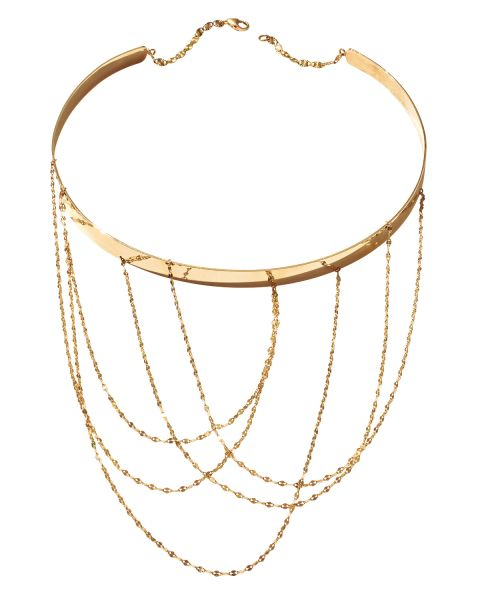 Lana, 14K Gold Multi-Chain Choker Necklace, $3,495