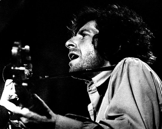 Leonard Cohen performing at Isle of Wight in 1970.