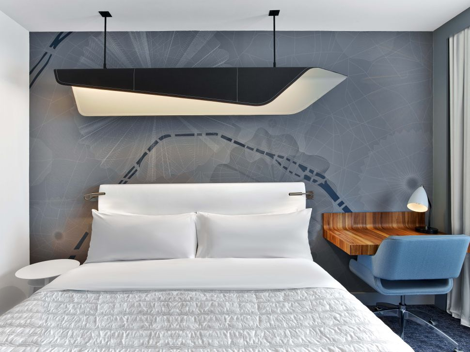 A guest room at Le Méridien Etoile