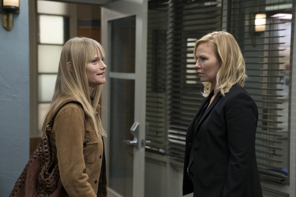 Lindsay Pulsipher as Kim Rollins and Kelli Giddish as Amanda Rollins.