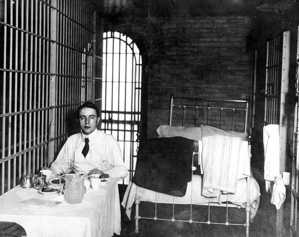Millionaire Harry K. Thaw murdered his wife's lover, Stanford White, in 1906. Above, he enjoys a jail-cell perk: a steak from Delmonico's.