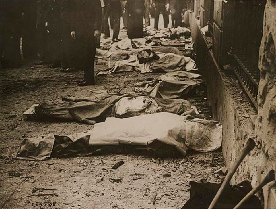On September 20, 1920, a bombing by anarchists killed 39 people on Wall Street.