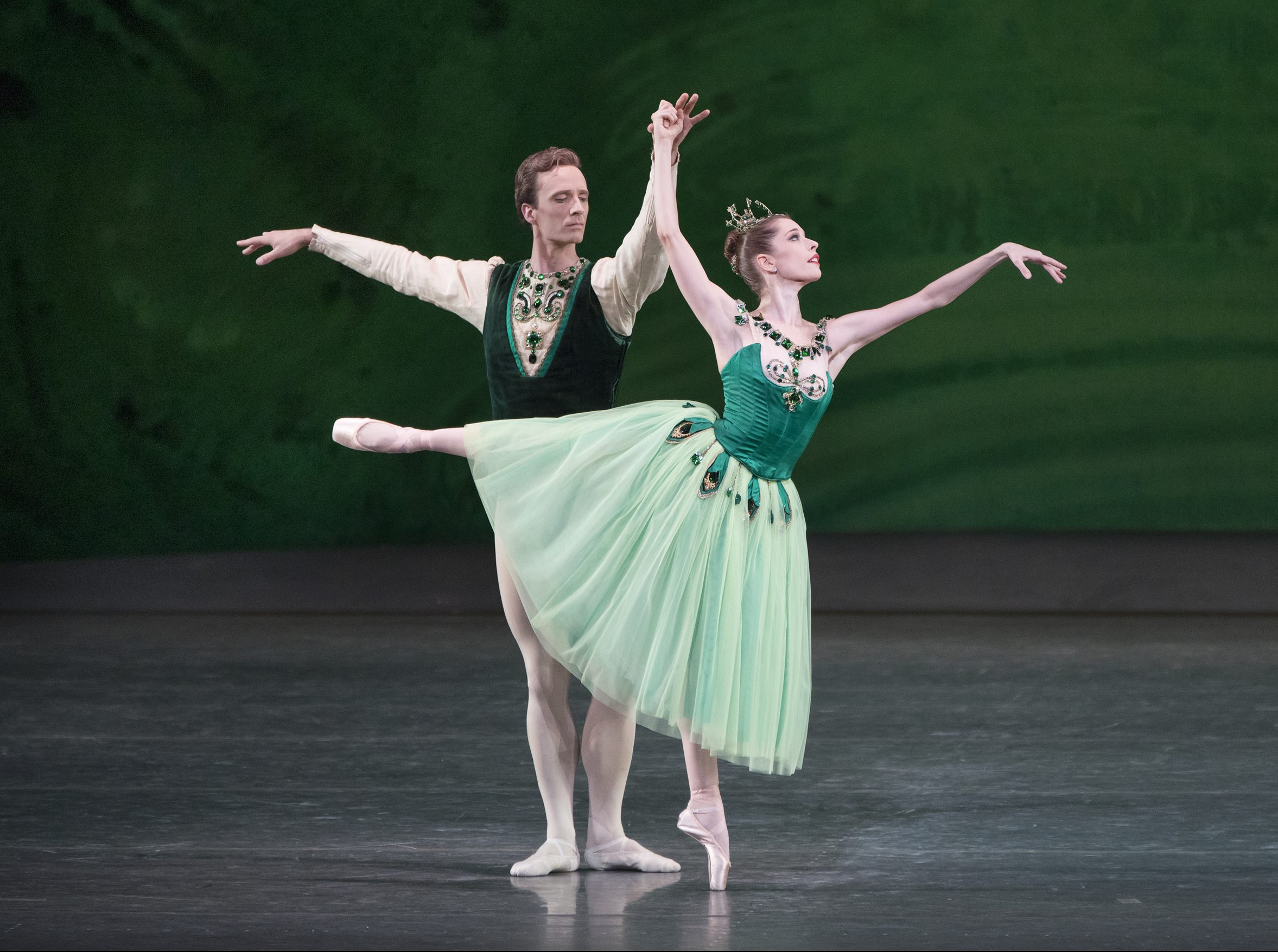 "Rebecca Krohn and Ask la Cour in ""Emeralds"" from Jewels."